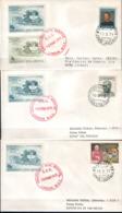 GRAN BRETAGNA - GRANDE BRETAGNE - GREAT BRITAIN - 1971 - EMERGENCY MAIL SERVICE - ANNULLO 3 BUSTE - 1952-.... (Elisabetta II)