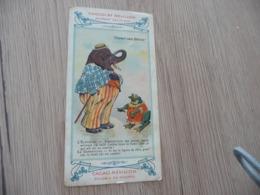 Chromo  Pub Publicitaire Chocolat Révillon Surréalisme L'Esprit Des Bêtes L'éléphant Et La Grenouille - Revillon