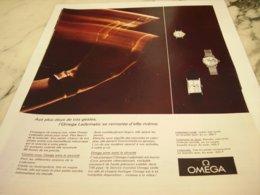 ANCIENNE PUBLICITE AUX PLUS DOUX DE VOS GESTE  MONTRE OMEGA 1966 - Juwelen & Horloges