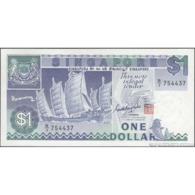 TWN - SINGAPORE 18a - 1 Dollar 1987 Prefix B/3 UNC - Singapur