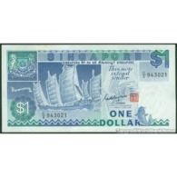 TWN - SINGAPORE 18a - 1 Dollar 1976 Prefix C/8 UNC - Singapore
