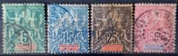 MADAGASCAR 1896/99 - Canceled - YT 31, 33, 35, 38 - 5c 15c 25c 50c - Usati