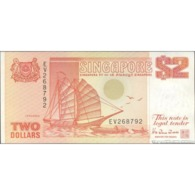 TWN - SINGAPORE 27 - 2 Dollars 1990 Prefix EV UNC - Singapore