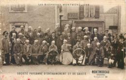 CPA 16 Charente Montmoreau Les Bigophones Montmoréliens Société Paysanne D'Entrainement Et De Gaieté Restaurant Fanfare - Altri Comuni