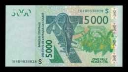 West African Guinea Bissau 5000 Francs CFA 2016 Pick 917Sp SC UNC - Guinea-Bissau