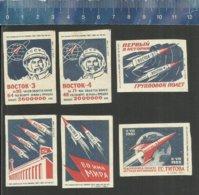 ANDRIYAN NIKOLAYEV - PAVEL POPOVICH COSMONAUTS COSMONAUTE VOSTOK 3 - 4  KOSMOS ESPACE SPACE RUIMTEVAART  Matchbox Labels - Matchbox Labels