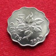 Swaziland 5 Cents 1999 KM# 48a Copper-nickel Swasiland Swazilandia Suazilandia - Swaziland