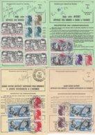 Lot De 4 Ordres De Reexpedition Differents (2 Temporaires + 2 Definitives) - Gironde - PA + Liberte - Voir Scan - Marcophilie (Lettres)