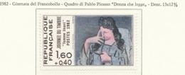 """PIA - FRA - 1982 : Giornata Del Francobollo - """"La Donna Che Legge"""" Quadro Di Pablo Picasso - (Yv 2204) - Giornata Del Francobollo"""