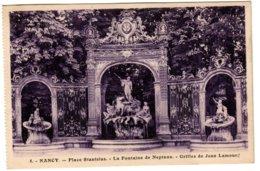 NANCY - La Fontaine De Neptune - Nancy