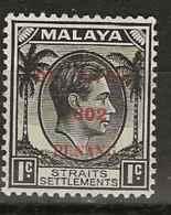 Malaysia - Japanese Occupation, 1942, J77, Mint Hinged - Occupation Japonaise