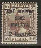 Malaysia - Japanese Occupation, 1942, J259, Mint Hinged - Grande-Bretagne (ex-colonies & Protectorats)
