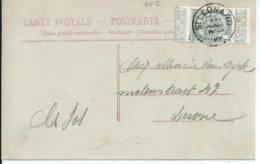 Fantasiekaart  Met OCB 81 - Afstempeling ST.LEONARD - COBA 15 - 1893-1907 Armoiries