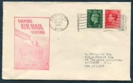 "1938 GB Newport - New Zealand ""Empire Air Mail Scheme Stage 3"" Flight Cover. Imperial Airways Flight - 1902-1951 (Rois)"