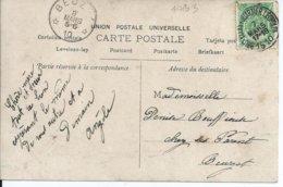 Fantasiekaart  Met OCB 83 - Afstempeling BRUXELLES(QUARTIER LEOPOLD) / BEUZET - COBA 15 - 1893-1907 Armoiries