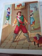 CHROMO MAGASIN AU PRINTEMPS ALBANEL A AUXERRE FABLE LE LION ET LE MOUCHERON LITHO BOUILLON RIVOIRE N1920? HG1470 - Old Paper