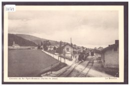 DISTRICT DE LA VALLEE - LE BRASSUS - LA GARE - TRAIN - BAHN - TB - VD Vaud