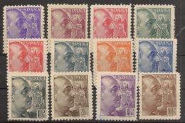 España Edifil 867/878** LUJO General Franco 1939 Serie Completa NL884 - 1931-50 Nuevos & Fijasellos