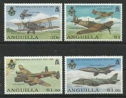 ANGUILLA 1998  80th ANNIV. OF RAF,AIRCRAFT SET MNH - Anguilla (1968-...)