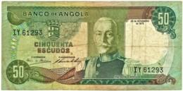 Angola - 50 Escudos - 24.11.1972 - Pick 100 - Série IY - Marechal Carmona - PORTUGAL - Angola