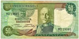Angola - 50 Escudos - 24.11.1972 - Pick 100 - Série KO - Marechal Carmona - PORTUGAL - Angola