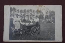Laitière Flamande  Echte Foto  Begin 1900  Zeldzaam - Métiers