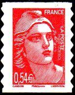France  Marianne De Gandon Autoadhésif N°   96 ** Ou 3977 -> Du Carnet - 1945-54 Marianne De Gandon