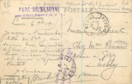 Carte Du Service Des GVC Secteur De MEAUX - Hangars De Dirigeables à Beauval Par Trilport En 1915 - Rare - Guerre 1914-18