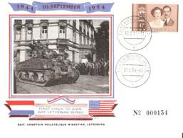 Libération 10.09.1944 Carte Avec Cachet Du 10.09.1954  Edit. Bastian - Cartoline Commemorative