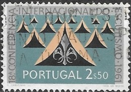 PORTUGAL 1962 18th International Scout Conference (1961) - 2e50 Scout Badge And Tents FU - Gebraucht