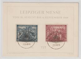 Leipziger Herbstmesse 1949 Auf Schmuck-Karte - Soviet Zone