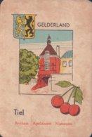 1 Oude Speelkaart Uit Steden Kwartet : Gelderland : Tiel - Cartes à Jouer