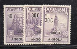 Y1067 - ANGOLA PORTOGHESE 1925 , Segnatasse Yvert N. 31/33  *  (2380A) - Angola