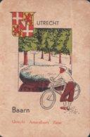1 Oude Speelkaart Uit Steden Kwartet : Utrecht : Baarn (fiets Velo) - Speelkaarten