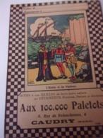 Protége Cahier Aux 100.000 Paletots CAUDRY L Huitre Et Les Plaideurs - Textile & Clothing