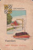 1 Oude Speelkaart Uit Steden Kwartet : Groningen : Veendam (binnenvaartschip Péniche ) - Andere