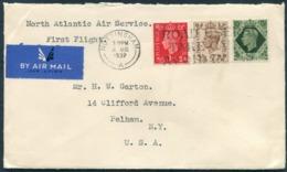 1939 GB Nottingham - New York USA. North Atlantic Air Service First Flight Cover - 1902-1951 (Rois)