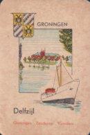 1 Oude Speelkaart Uit Steden Kwartet : Groningen : Delfzijl (boot Schip ) - Cartes à Jouer