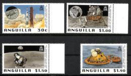 ANGUILLA 1999 30th ANIV. OF MANNED MOON LANDING SET MNH - Anguilla (1968-...)