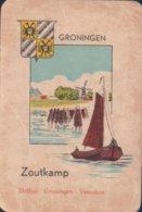 1 Oude Speelkaart Uit Steden Kwartet : Groningen : Zoutkamp ( Boot Schip ) - Cartes à Jouer