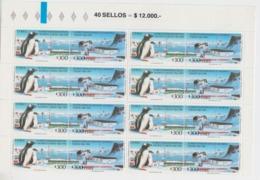 Chile 1994 Antarctica 8x2v Se Tenant ** Mnh (45060 ) - Zonder Classificatie