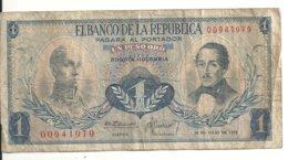 COLOMBIE 1 PESO ORO 1972 VG+ P 404 E - Colombia