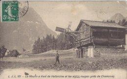 74 VALLORCINE MOULIN A VENT DE VALLORCINE ET DES AIGUILLES ROUGES  VALLEE DE CHAMONIX MONT BLANC  LJL 101 - Frankrijk
