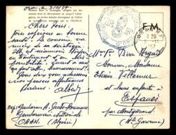 GUERRE D'ALGERIE - CACHET GENDARMERIE NATIONALE BRIGADE D'ORAN SUR CARTE DE FRANCHISE MILITAIRE - Marcofilie (Brieven)
