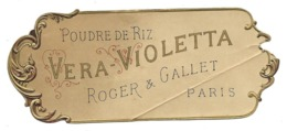 Etiquette Gaufrée - ROGER & GALLET,  Poudre De Riz VERA-VIOLETTA, Paris - Labels