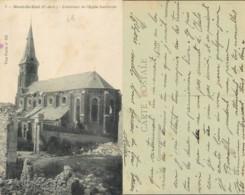 NB - [508613]B/TB//-France  - (62) Pas-de-Calais, Mont-Saint-Eloi, L'exterieur De L'Eglise Bombardée, Eglises Et Cathédr - Autres Communes