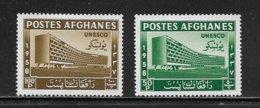 AFGHANISTAN  ( AFGH - 7 )  1958  N° VERT ET TELLIER  N° 481/482  N* - Afghanistan