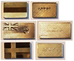 3 X Franklin Mint Gold Flag / Drapeau: Ethiopia Fiji Suomi - Autres