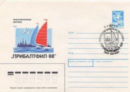 RUSSIA CCCP - Intero Postale - RIGA 1988 - VELA SAIL VOILE - Vela