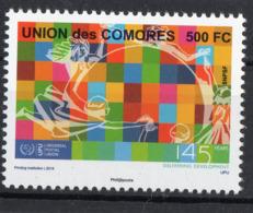 Union Des Comores Comoros 145ème Anniversaire UPU Nouveauté 2019 Les 5 Valeurs - Comoros